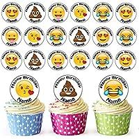 24 Personalisiert Vorgeschnitten Einhorn Essbar Birthday Cupcake Toppers Töchter