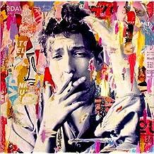 Póster 60 x 60 cm: Bob Dylan de Michiel Folkers - impresión artística de alta calidad, nuevo póster artístico