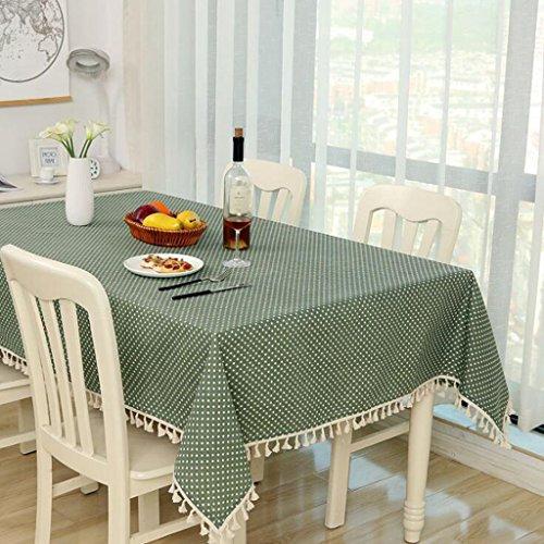 aoligei Tischdecke Tuch Linen Kleine Fresh Tisch rund Tischdecke Kaffee Tischdecke Pasta, rechteckige Tisch Tischdecke 100*140CM