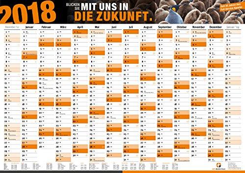 Preisvergleich Produktbild 2er Jahresplaner XXL 2018 | DIN A0 | Wand-Kalender Termin-Planer Kalender Wand-Planer Termin-Übersicht Büro-Planer Jahresübersicht | inkl. Feiertage Ferienübersicht
