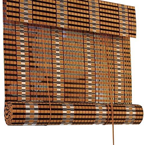 Tende avvolgibili per la filtrazione della luce, con valance, mould-proof tenda a rullo di bambù, tende oscuranti di filtraggio della luce (dimensioni : 80x90cm)