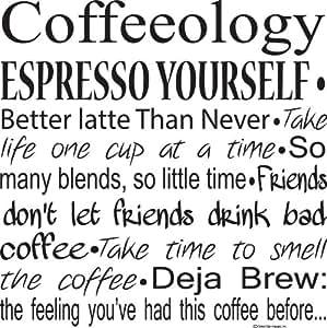 ... Kitchen Wall Decals Coffeeology Espresso Yourself Wall Decals Coffee  Quotes Coffee