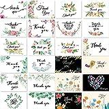 Cartes De Remerciement, 24 Assorties Fleurs Thank You Cartes de vœux avec Enveloppe Merci Cadeaux Cartes pour Toutes Occasions, Thanksgiving, Fête, Mariages, Baby Shower, Anniversaire, 10 x 15cm...