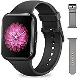 Smartwatch Uomo Donna, NAIXUES Orologio Fitness 1,54 Pollici Impermeabile IP68 Smart Watch Bluetooth Cardiofrequenzimetro da