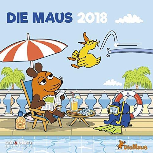 Der Kalender mit der Maus 2018 - Kinderkalender, Kalender für Kinder, Die Sendung mit der Maus  -  30 x 30 cm