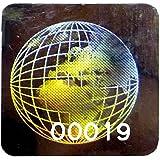 """Holograma """"globo pegatinas numeradas, 20mm Etiquetas PLATA, cuadrado, Tamper Evident,"""" Void, garantía, la seguridad, color plata"""