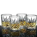 Ecooe bicchieri tumbler vintage old fashioned per whisky, scotch, bourbon, e altro ancora. Set di 4