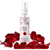 BodyAlchemy Pure and Natural Premium Rose Water/Skin Toner (Gulab Jal) - 200ml, Steam Distilled - Organic and Chemical…