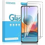 GEEMEE Per Redmi Note 10 PRO/Note 10 PRO Max Vetro Temperato (2 Pezzi), Durezza 9H Protezione Schermo, Anti Graffi HD Traspar