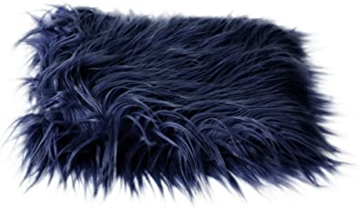 Magideal Baby Newborn Fur Photography Photo Props Blanket rug Background Navy Blue