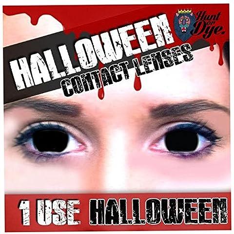 Erwachsene Herren Damen Black Out Halloween Karneval Kosmetik farbig Fancy Dress Eye Wear Zubehör (Clown Kostüme Ziel)