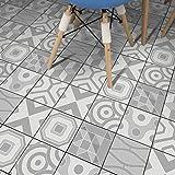 STRIR Adhesivo para azulejos 500cm x 20 cm - Adhesivo decorativo para azulejos para baño y cocina - Stickers azulejos - Collage de azulejos - Estilo europeo tradicional (H)