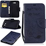 J7 2017 Case,Samsung J7 2017 Case,Galaxy J7 2017 Case,Samsung Galaxy J7 2017 Case,For Samsung Galaxy J7 2017 Cover [Dark Blue Bear],Cozy Hut Magnetic Flip Book Style Cover Case For Samsung Galaxy J7 2017 ,High Quality Vintage Genuine Scrub Printed PU Leather Magnetic Flip Protection Case Cover Wallet Pouch With [Lanyard Strap] and [Credit Card Slots] Stand Function Folio Protective Holder Perfect Fit For Samsung Galaxy J7 2017 - Dark blue bear
