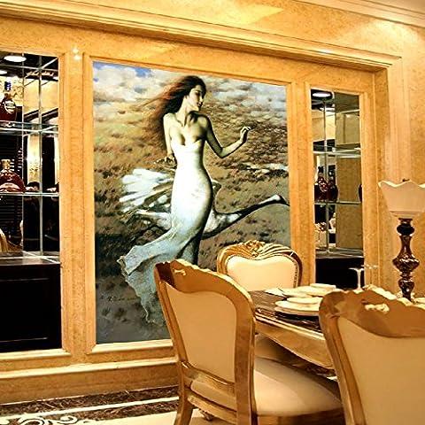 Sproud Benutzerdefinierte Wandmalereien Der Modernen Wohnzimmer Wallpaper Painting Body Art Individualität Selbstklebende Wasserdichter Stoff Wallpaper 200 Cmx 140 (Benutzerdefinierte Body Art)