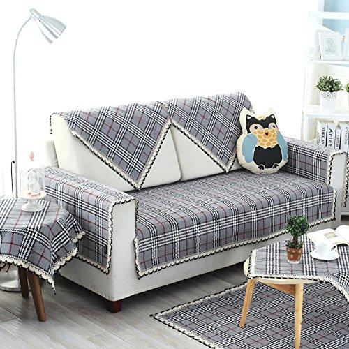 Fodera per divano lattice, protezione per cani, protezione antiscivolo per divano per divano, copertura per divano componibile antimacchia in cotone per soggiorno,gray,90x120cm(35x47inch)