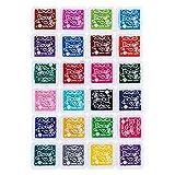 ULTNICE Finger Print Stempelkissen Set Ink Stempelkissen für DIY-Multi Farbe Handwerk Pack von 24