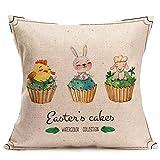 UFACE Ostern Kissenbezug, Schlafsofa Dekoration Festival Kissenbezug Kissenbezug Kaninchen Kissen Eierkissen