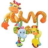Happy Cherry - Juguetes Colgantes Espiral de Animales para Cuna Cochecito Carrito bebés Recien nacidos Peluche con Mordedor p