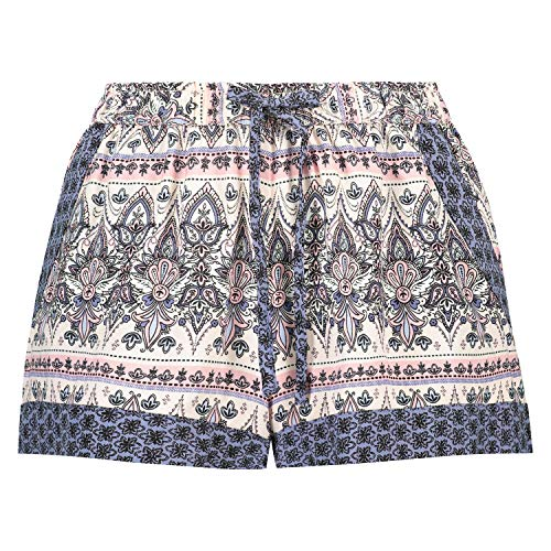 Hunkemöller Damen Shorts Woven L, Stonewash -