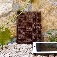 Tablet Hülle Schutzhülle Sleeve iPad apple android Python Leopard schwarz braun Skull Totenkopf, von wagnerstrasse
