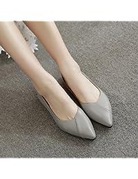 Xue Qiqi Sugerencia Calzado Plano de luz Plana con Solo Zapatos Confort Femenino un Paso Inferior y Zapatos de...