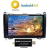 XISEDO Android 8.0 Autoradio In-dash 9 Zoll Car Radio 8-Core RAM 4G ROM 32G Autonavigation Car Radio mit 1024*600 Touch Screen für Mercedes-Benz A-W169, B-W245, Viano, Vito, Sprinter Unterstützt Lenkradkontrolle, RDS (mit DAB Dongle)