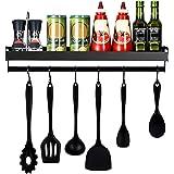 mreechan Drijvende plank wandplank, metalen wandhouder drijvende keuken kruidenrek plank, opslag keuken kruidenrek met handdo