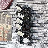 LIXIONG colgar en la pared botellero para Tubos de agua retro Porta Botellas hierro Estantes de exhibición , 7 tipos de estilos ( Color : #2 )