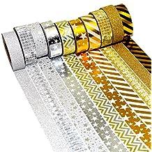 K-LIMIT 10er Set Washi Tape Dekoband Masking Tape Klebeband Scrapbooking DIY Weihnachten Christmas 9441