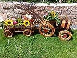 2x Traktor+Hänger Anhänger hell 45 + 45 cm aus Korbgeflecht, Korbmaterial wetterfest**, WITZIGE GARTENDEKO, ideal als Pflanzkasten, Blumenkasten, Pflanzhilfe, Pflanzcontainer, Pflanztröge, Pflanzschale, Rattan, Weidenkorb, Pflanzkorb, Blumentöpfe, Holzschubkarre, Pflanztrog, Pflanzgefäß, Pflanzschale, Blumentopf, Pflanzkasten, Übertopf, Übertöpfe, , Holzhaus Pflanzgefäß, Pflanztöpfe Pflanzkübel