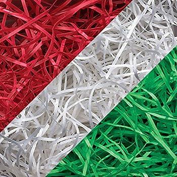 ShredAstic ®  Mix Shredded Tissue Paper Gold,Red,Dark Green Xmas Gift Hamper