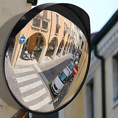 Premium Verkehrsspiegel - Wetterfester Ø30 cm Sicherheitsspiegel - ideal für Garagen, Hofeinfahrten uvm. zur Einsicht von toten Winkeln