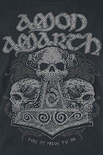 Amon Amarth Skull Hammer Girl-Shirt schwarz Schwarz