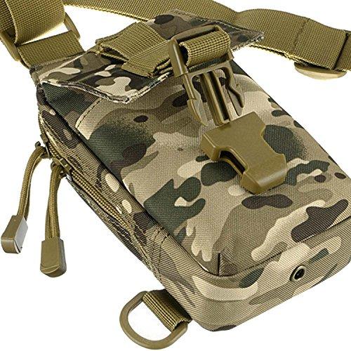 Schulter Messenger Bag Tragetasche Brusttasche,Multifunktionales,Outdoor-Sportarten,Beetest style 3