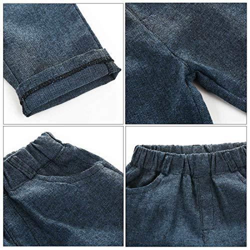 Happy Cherry Babyanzug Baby Taufanzug Jungen Hemd Hose Anzug Festlich Kinderanzug Hochzeit Anzug Frühling Herbst Bekleidung Set Blau-100cm