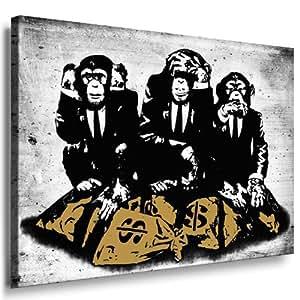 Amazon.de: Banksy Street Art Graffiti - Affen Leinwand von