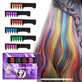 Best Gifts For 7 Yr Old Girls - BATTOP 6PCS Hair Chalk Comb Temporary Bright Hair Review