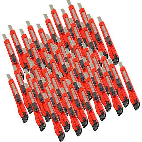 Alaskaprint 50 Stück Cuttermesser 9mm klinge Cutter Messer Teppichmesser auch zum Basteln
