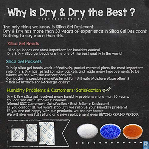 50 Dry&dry Silica Gel Packets Desiccant Dehumidifiers by DRY&DRY