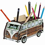 "Werkhaus - Stiftebox ""VW-Bus T1 Bulli"" Holz-Optik (WE2082)"