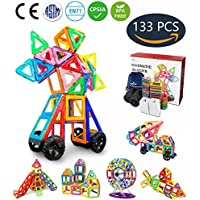 Large Creative Magnetic Building Blocks For Boys Girls Magnetic Tiles Building Set Preschool Educational Construction Kit Stacking Toys for Kids Toddlers Children Babys