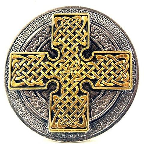 Cruz celta Buckle, Nudo Celta, 24 ct. Oro - Hebilla