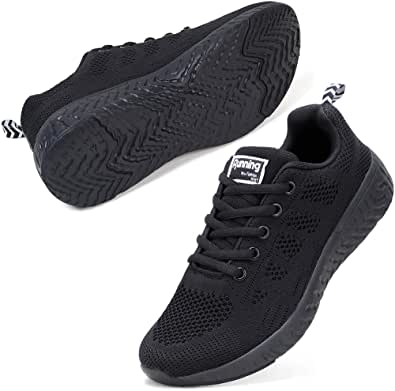 STQ Women Walking Shoes Casual Lace Up Shoes Trainers Running Sneakers