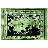 Indian Poster Wandbehang Poster, Baumwolle Tagesdecke Poster Multi, Größe 30x 40indische Mandala Poster, Hippie Mandala Poster Wall Decor zum Aufhängen, Mandala Wandbehang Gobelin, Hippie Schlafsaal, Tagesdecke