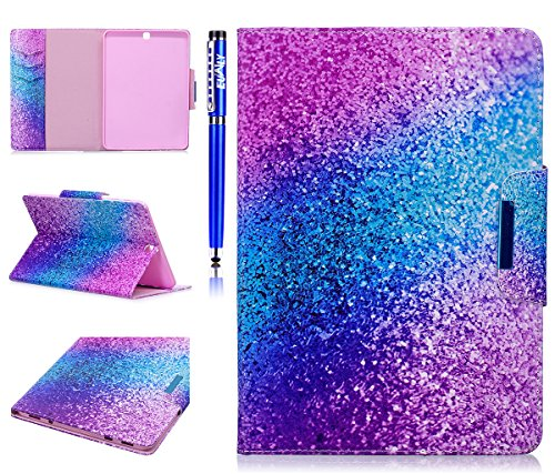samsung tablet s2 9.7 EUWLY Tablet Cover per Galaxy Tab S2 9.7 (T810 T815) - Sabbia Arcobaleno