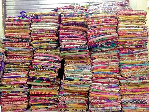 10Mix Lot of Indian Tribal Kantha Quilts Vintage Baumwolle Bett Bezug Überwurf Old Sari Made Sortiert Patches Made Rally Ganze Verkauf Decke