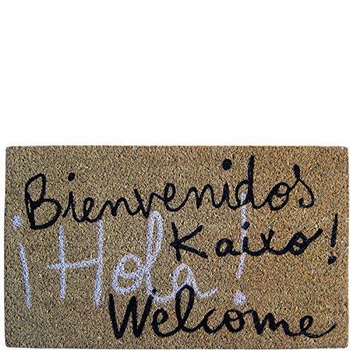 Laroom Felpudo diseño Bienvenidos Kaixo Hola Welcome