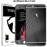 toeoe Lujo 3d textura Fibra de Carbono Full Body de vinilo para para Apple iPhone 6