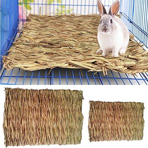 winnerus 1weichen Strohhalm Kaninchen Hamster Gras Matte Stroh Kauen Nest für Pet Klein animasl Ratte Maus Guinea Pig Matte PET Gras Matte (Pet Gras Matte)