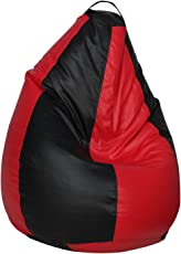 Sattva Classic EVSD00343 XXXL Bean Bag Without Beans (Black and Red)